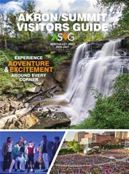 Cover of the Akron Visitors Guide 2020-2021